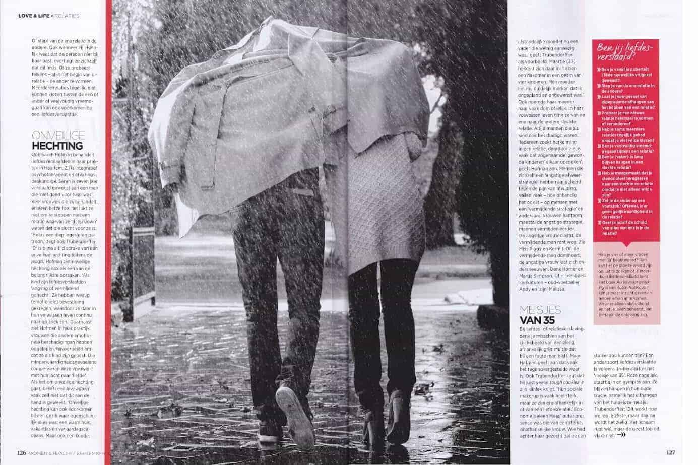 Artikel liefdesverslaving